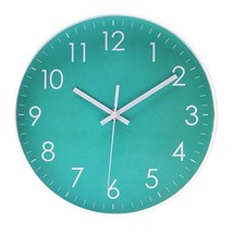 Modern Simple Wall Clock Indoor Non-Ticking Silent Sweep Movement Wall C... - $19.88