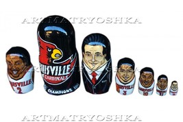 "Louisville Cardinals nesting doll matryoshka babushka doll 7 pc, 8"" - $119.90"