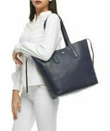 Authentic MK Michael Kors Junie Large Pebbled Leather Tote Navy MSRP$248 - $99.00