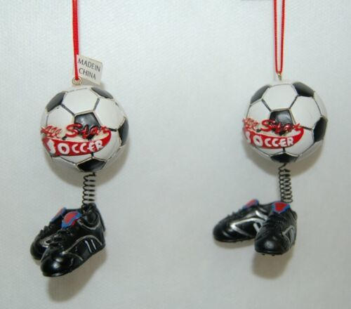 Midwest CBK Soccerball Shoes Bobble Christmas Ornament All Star 2 Set