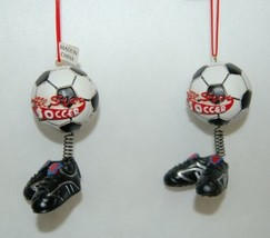 Midwest CBK Soccerball Shoes Bobble Christmas Ornament All Star 2 Set image 1