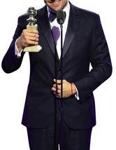 Oscar 2016 Leonardo Dicaprio Tuxedo Slimfit Black Suit image 2