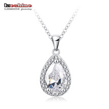 Pendants, Water Shape zirconium Platinum Plate Ladies Christmas Gift CNL... - $12.99
