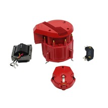 HEI Distributor 8CYL Tune-Up Kit 65k Volt Ignition Coil Red Super Male Cap image 2