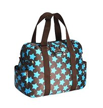 Blue, Fashionable WaterProof High Capacity Baby Bottle Tote Bag(Star)