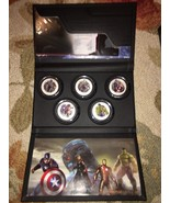 Marvel Comics The Avengers Age of Ultron NIUE 2015 Proof $2 Silver 5 Coi... - $719.99