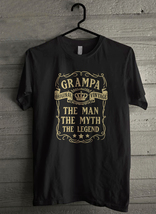 Grampa the Man the Myth the Legend Men's T-Shirt - Custom (3514) - $19.12+