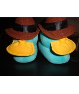 DISNEY PERRY AGENT P SLIPPERS SIZE SMALL TODDLER 9-10 FERB PHINEAS PLUSH... - $9.00