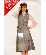 Butterick 5189 Sewing Pattern for Misses 14-16-18 Welt Pocket Lined Butt... - $11.27