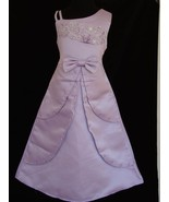 Satin Flower Girl Party Wedding Bridesmaid Dress Lilac Ivory Pink 4 to 1... - $18.95