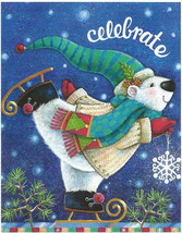 Celebrate Season Christmas Polar Bear Skate 100 pc Bagged Boxless Jigsaw... - $9.00