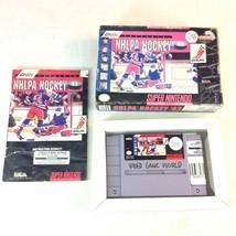 SNES Super Nintendo Video Game NHLPA Hockey 93 in Box with Paperwork  - $12.86