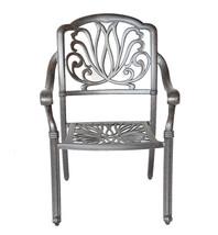 Patio dining chairs 4 Elisabeth outdoor cast aluminum furniture Sunbrella cushio image 2
