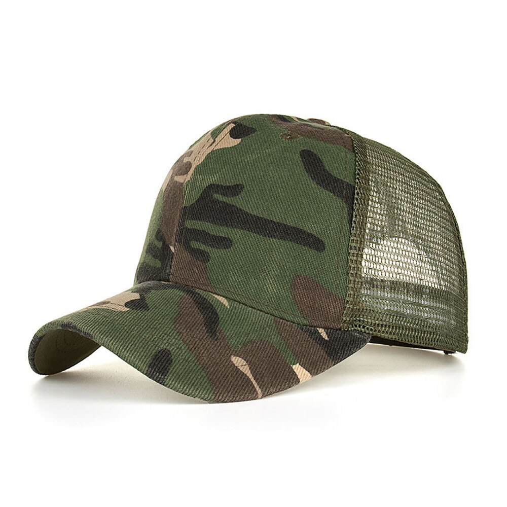 Primary image for New Summer Camouflage Cap Men Women Mesh Hats Casual Hats Hip Hop Cotton Blend B