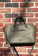 COACH Surplus Olive Green Blake Leather Carryall Tote Cross Body 35689 N... - $399.99