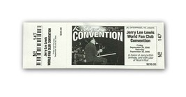 JERRY LEE LEWIS AUTHENTIC 2000 ORIGINAL CONCERT TICKET WORLD FAN CLUB CO... - $49.95