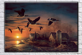 Landscape painting Art oil painting printed on canvas home decor Sundown - $14.99