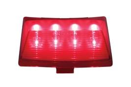 United Pacific 37204 8 LED Harley Fender Tip Light - Red LED/Red Lens - $28.99
