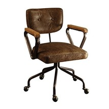 Acme Furniture Acme Hallie Top Grain Leather Office Chair In Vintage Whiskey - $615.19