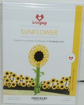 Lovepop LP1570 Sunflower Pop Up Card White Envelope Cellophane Wrapped image 6