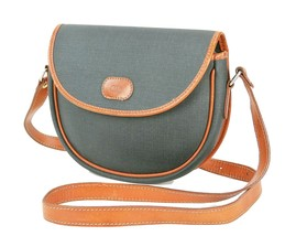 Auth VTG CHRISTIAN DIOR Black Canvas and Leather Shoulder Bag Purse #33300 - $179.00