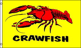 3x5 Crawfish 3'x5' House Banner grommets Super Polyester - $18.00