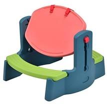 Costzon Kids Art Table Chair Set, 2 in 1 Height Adjustable Creativity De... - $58.09