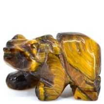 Tiger's Eye Gemstone Tiny Miniature Bear Figurine Hand Carved in China image 2