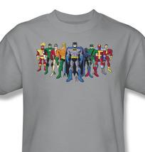 Uperhero s group tshirt batman superman aquaman flash for sale online gray graphic tee  thumb200