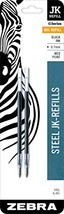 Zebra G-301 Stainless Steel Pen JK-Refill, Fine Point, 0.7mm, Black Ink,... - $4.61