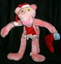 "16"" 2002 PINK PANTHER GOOD STUFF CHRISTMAS HAT STOCKING STUFFED ANIMAL P... - $21.04"