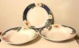 "Savannah Grove Collection Stoneware 2 Soup/Salad Bowl & 7 1/2"" Plate Pet... - $18.81"