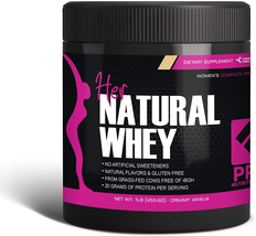 Pro Nutrition 1lb Creamy Vanilla Her Natural Whey Protein Powder Grass Fed - $16.95