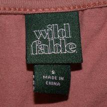 Wild Fable Women's Mauve Pink Square Neck Crop Long Sleeve Shirt Size S image 3