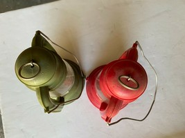 """Lot of Two Vintage 1950s Marx Toys Plastic Miners Lantern 8"""" Tall  - $36.11"""