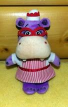 """Doc McStuffins Disney Purple HALLIE Hippo Plush 9"""" Candy Striper Nurse - $6.29"""