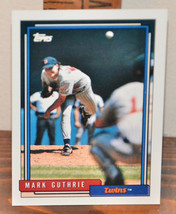 New Mint Topps trading card Baseball card 1992 Mark Guthrie 548 Twins - $1.48