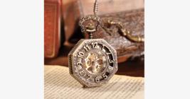 Golden Treasure Mechanical Pocket Watch - $19.99