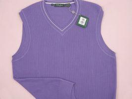 NEW! NWT! $135 Bobby Jones Collection Colorful Vest! 100% Peruvian Pima Cotton image 3