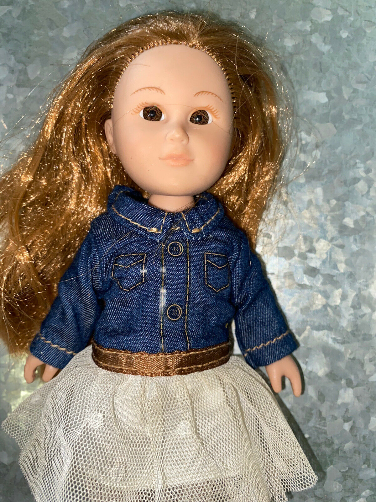 My Life As Mini Cowgirl Doll 7 Inch Brown Eyes - $10.30