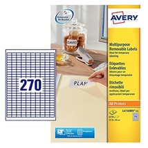 Avery L4730REV-25 Removable Labels (A4 Sheet of 17.8 x 10 mm Labels, 270 Labels  - $18.00