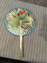 Vintage Keep Cool And Be Gay Aluminum Midget Fan No 104 W Box Oriental D... - $6.88