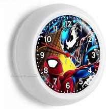 Spiderman Peter Parker Superhero Vs Venom Wall Clock Boys Bedroom New Room Decor - $23.39