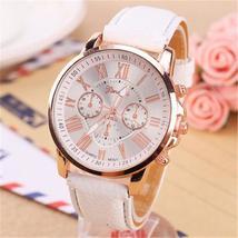 Luxury Brand Leather Quartz Watch Women Ladies Men Fashion Bracelet Wris... - $10.20+