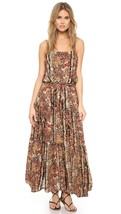 NWOT FREE PEOPLE VALERIE BLACK COMBO PRINTED MAXI DRESS S - $99.99
