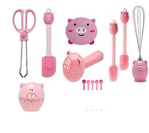 Joie Kitchen Pink Piggy 7-Piece Accessories Set