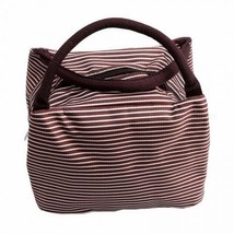 New Leisure Women Portable Lunch Storage Bag Canvas Stripe Insulated Coo... - €10,35 EUR
