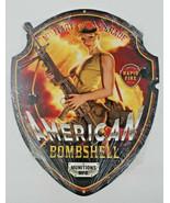 "17"" pinup girl blonde American bombshell military grade USA steel metal ... - $89.00"