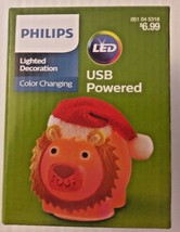 Philips Christmas Lion LED Lighted Decoration USB Powered Color Changing... - $4.33
