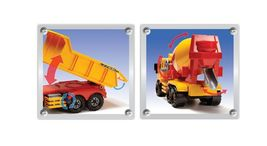 Daesung Toys Super Dump Truck and Concrete Mixer Car Vehicle Heavy Equipment Set image 9
